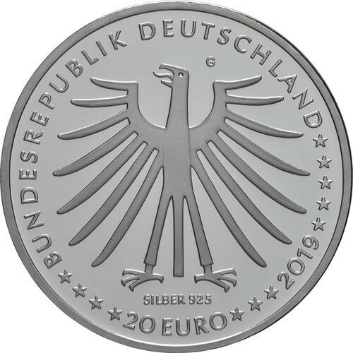 Rückseite:Deutschland : 20 Euro Das tapfere Schneiderlein  2019 PP
