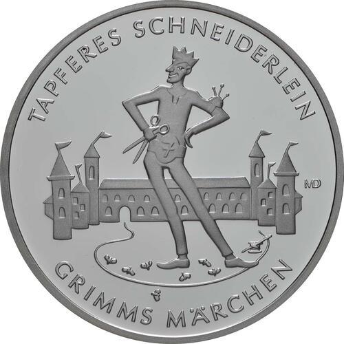 Vorderseite:Deutschland : 20 Euro Das tapfere Schneiderlein  2019 PP