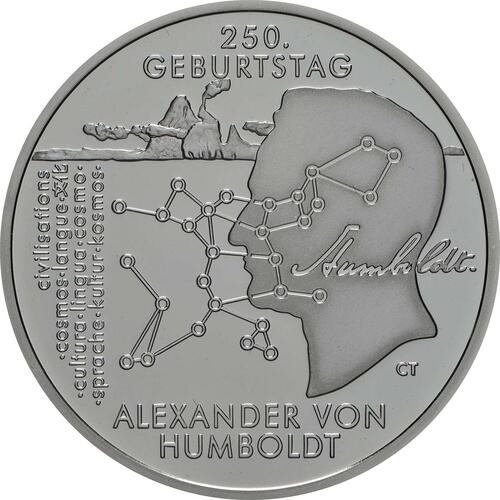 Vorderseite:Deutschland : 20 Euro 250. Geburtstag Alexander von Humboldt  2019 PP