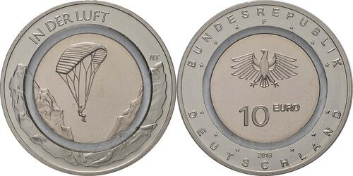 Lieferumfang:Deutschland : 10 Euro In der Luft - Buchstabe unserer Wahl  2019 bfr
