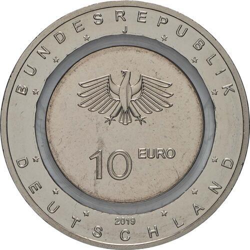 Rückseite:Deutschland : 10 Euro In der Luft  2019 bfr