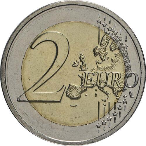 Vorderseite:Luxemburg : 2 Euro 100. Jahrestag von Großherzogin Charlottes Thronbesteigung und Hochzeit  2019 bfr