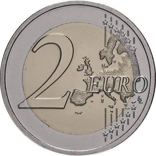 Vorderseite:Luxemburg : 2 Euro 100. Jahrestag von Großherzogin Charlottes Thronbesteigung und Hochzeit - Münzzeichen Brücke  2019 bfr