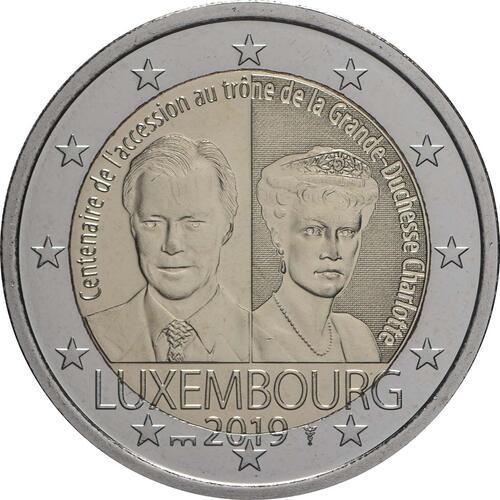 Rückseite:Luxemburg : 5,88 Euro KMS Luxemburg Stadt Grevenmacher inkl. 2 Euro Gedenkmünze Münzzeichen Brücke  2019 Stgl.