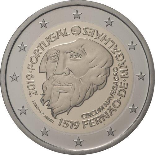 Rückseite:Portugal : 2 Euro 500. Jahrestag der Weltumseglung durch Magellan  2019 PP