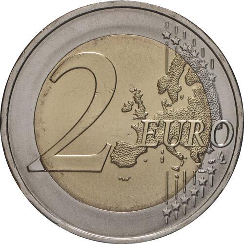 Vorderseite:Portugal : 2 Euro 600. Jahrestag der Entdeckung der Insel Madeira  2019 bfr