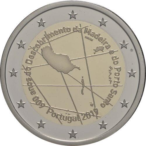 Rückseite:Portugal : 2 Euro 600. Jahrestag der Entdeckung der Insel Madeira  2019 PP