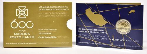 Lieferumfang:Portugal : 2 Euro 600. Jahrestag der Entdeckung der Insel Madeira  2019 PP