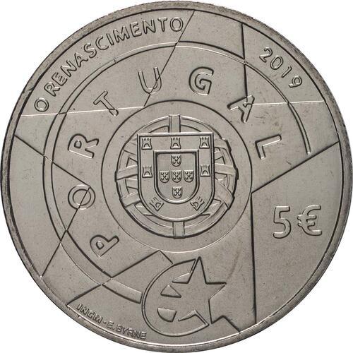 Rückseite:Portugal : 5 Euro Renaissance  2019 bfr