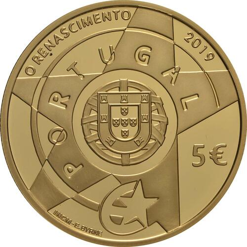 Rückseite:Portugal : 5 Euro Renaissance  2019 PP