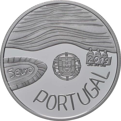 Rückseite:Portugal : 5 Euro Das Meer gezeichnet von einem Kind  2019 PP