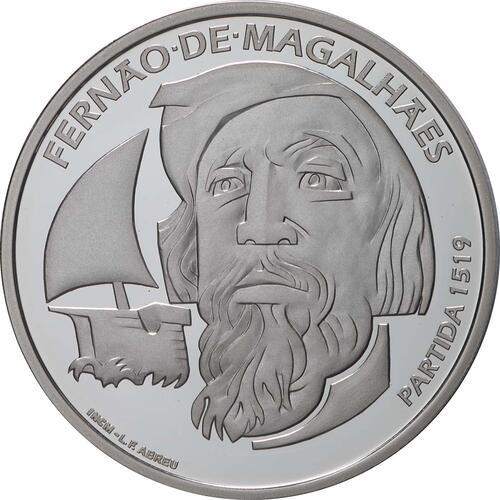 Vorderseite:Portugal : 7,5 Euro 500. Jahrestag der Weltumseglung durch Magellan  2019 PP