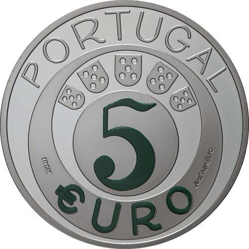 Rückseite:Portugal : 5 Euro 45 Jahre Nelkenrevolution  2019 PP