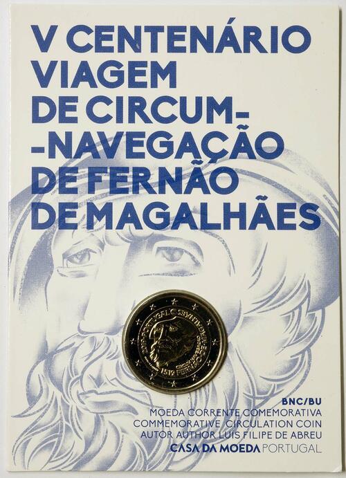 Lieferumfang:Portugal : 2 Euro 500. Jahrestag der Weltumseglung durch Magellan  2019 Stgl.