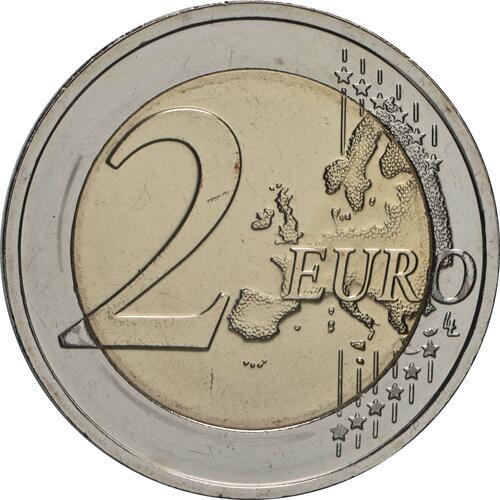 Vorderseite:Estland : 2 Euro 100. Jahrestag der Gründung der estnischsprachigen Universität Tartu  2019 bfr