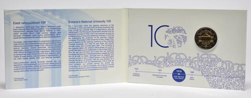 Lieferumfang:Estland : 2 Euro 100. Jahrestag der Gründung der estnischsprachigen Universität Tartu  2019 Stgl.
