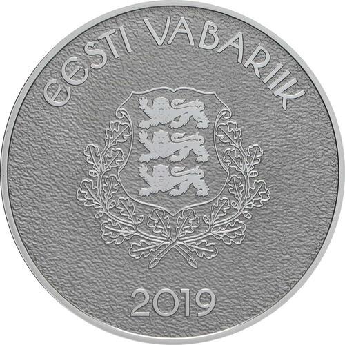 Rückseite:Estland : 8 Euro Hansestadt Viljandi  2019 PP
