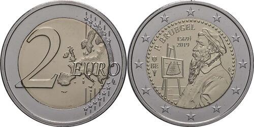 Lieferumfang:Belgien : 2 Euro 450 Jahre Pieter Bruegel der Ältere  2019 bfr