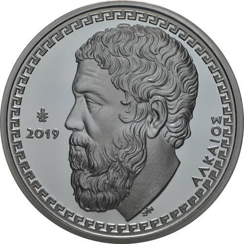 Vorderseite:Griechenland : 10 Euro Alcaeus von Lesbos - Lyriker  2019 PP