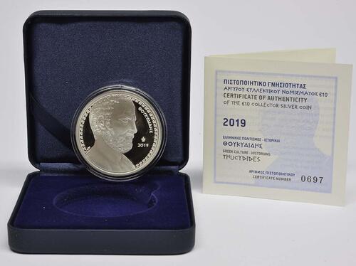 Lieferumfang:Griechenland : 10 Euro Thukydides - Historiker  2019 PP