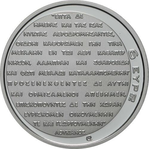 Rückseite:Griechenland : 6 Euro Mondlandung  2019 PP