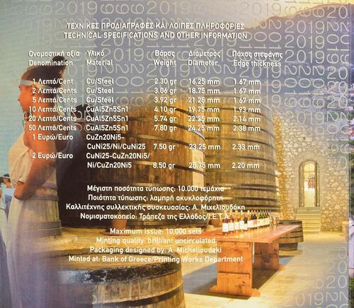 Zertifikat:Griechenland : 3,88 Euro KMS Griechenland Samos  2019 Stgl.