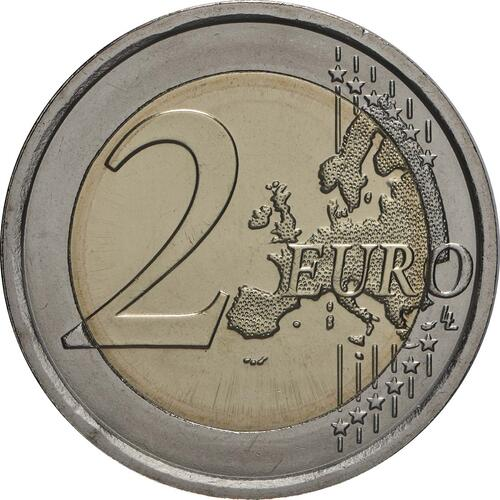 Vorderseite:Italien : 2 Euro 500. Todestag von Leonardo da Vinci  2019 bfr
