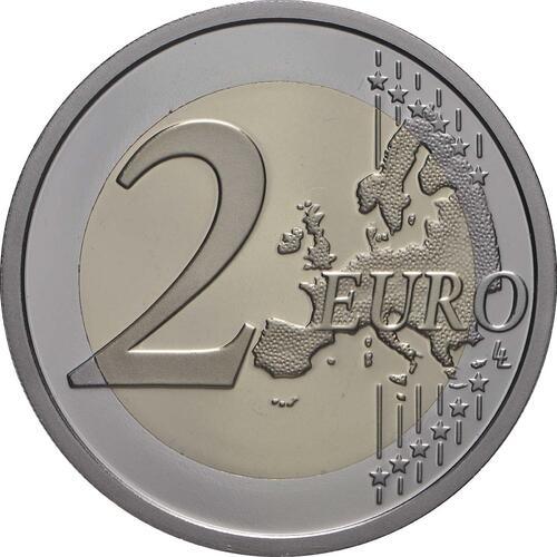 Vorderseite:Italien : 2 Euro 500. Todestag von Leonardo da Vinci  2019 PP