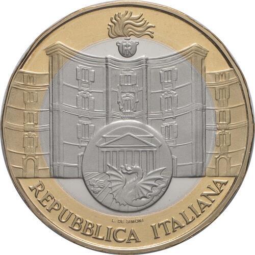 Vorderseite:Italien : 5 Euro 50. Jahrestag der Gründung der Carabinieri-Abteilung zum Schutz des Kulturerbes  2019 PP