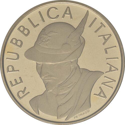 Vorderseite:Italien : 5 Euro 100 Jahre Alpine Vereinigung  2019 Stgl.