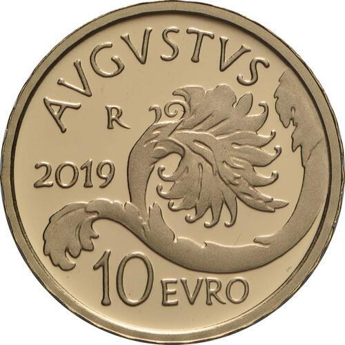 Rückseite:Italien : 10 Euro Augustus  2019 PP