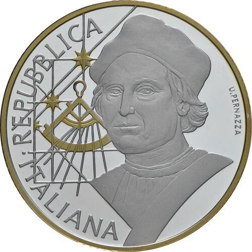 Vorderseite:Italien : 10 Euro Christoph Kolumbus - vergoldet  2019 PP