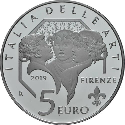 Rückseite:Italien : 5 Euro Toskana - Santa Maria del Fiore - Florenz  2019 PP