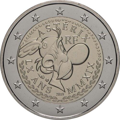 Rückseite:Frankreich : 2 Euro Asterix und Idefix  2019 Stgl.