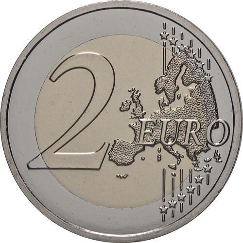 Vorderseite:Frankreich : 2 Euro Asterix und Idefix  2019 Stgl.