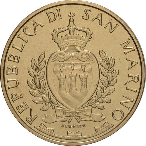 Rückseite:San Marino : 5 Euro 5G-Netzwerk in San Marino  2019 bfr