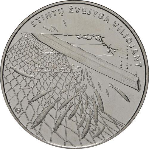 Vorderseite:Litauen : 1,5 Euro Stint - Angeln durch Anlocken  2019 bfr