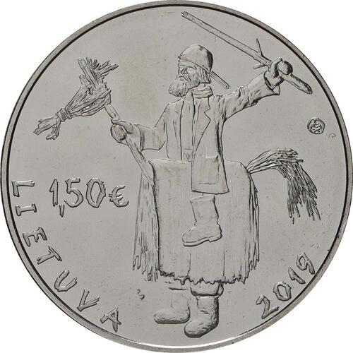 Rückseite:Litauen : 1,5 Euro Winterende - Uzgavenes  2019 bfr