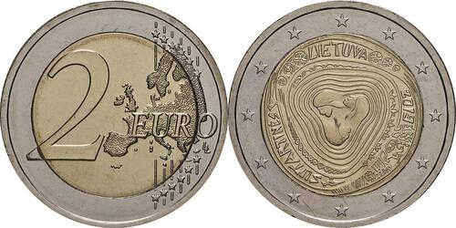 Lieferumfang:Litauen : 2 Euro Sutartines - Litauische Volkslieder  2019 bfr