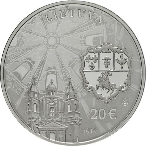 Rückseite:Litauen : 20 Euro Sapieha Palast  2019 PP