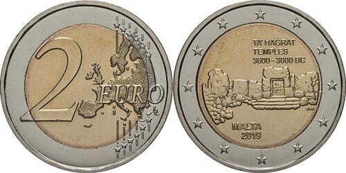 Lieferumfang:Malta : 2 Euro Ta Hagrat  2019 bfr