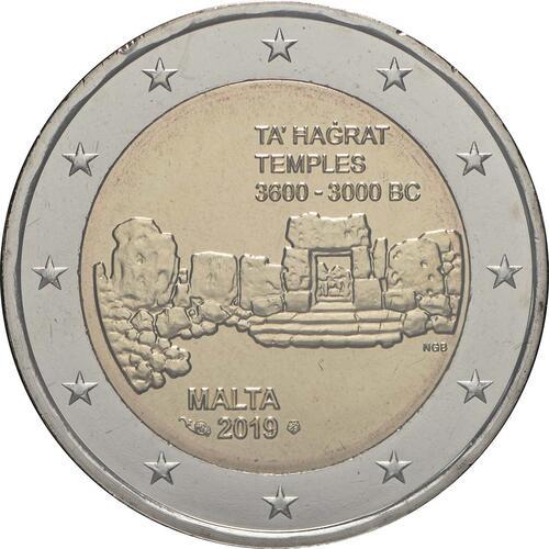 Rückseite:Malta : 2 Euro Ta Hagrat  2019 Stgl.