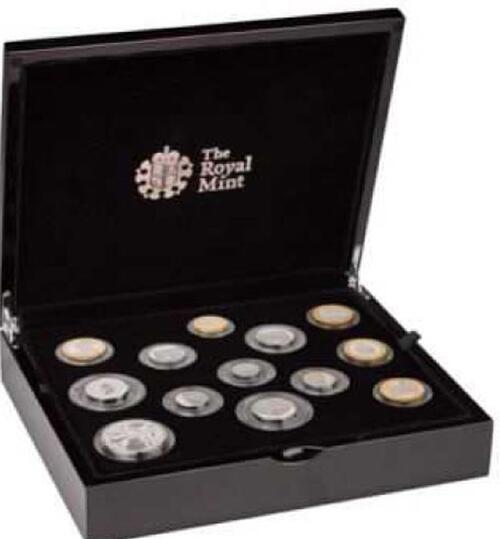 Lieferumfang:Großbritannien : 15,38 Pfund Kursmünzensatz - Silver Proof Coin Set  2019 PP
