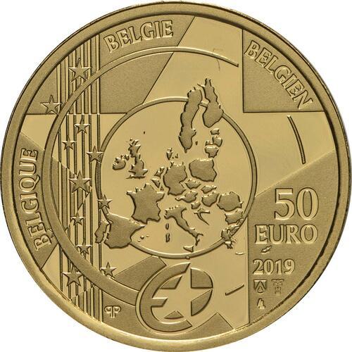Rückseite:Belgien : 50 Euro Renaissance Brügel  2019 PP