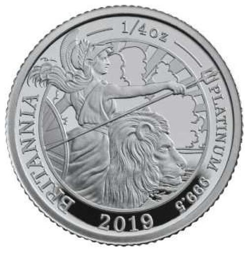 Lieferumfang:Großbritannien : 25 Pfund Britannia 1/4 Oz  2019 PP