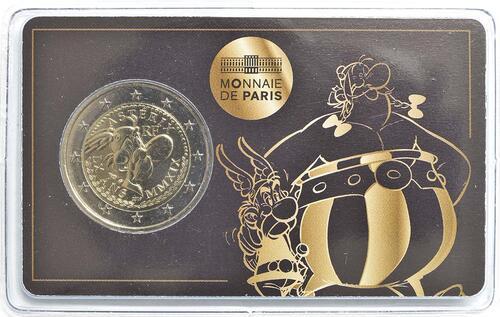 Lieferumfang:Frankreich : 2 Euro Asterix und Obelix  2019 Stgl.