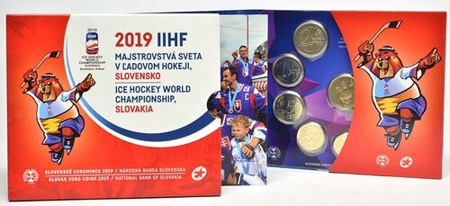 Lieferumfang:Slowakei : 3,88 Euro KMS Slowakei Eishockey WM  2019 Stgl.