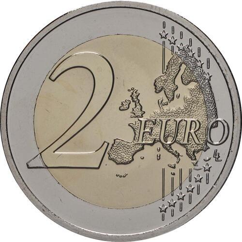 Vorderseite:Belgien : 2 Euro 25-jähriges Bestehen des Europäischen Währungsinstituts (EWI)  2019 bfr