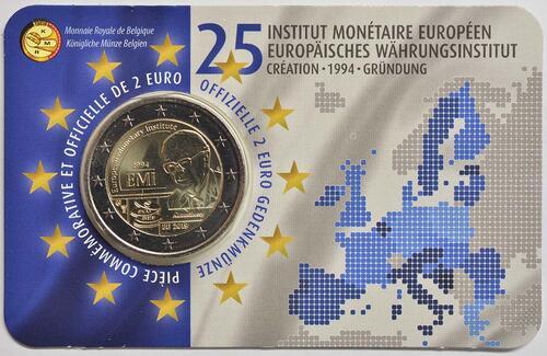 Lieferumfang:Belgien : 2 Euro 25-jähriges Bestehen des Europäischen Währungsinstituts (EWI)  2019 Stgl.