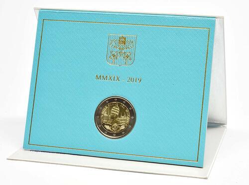 Lieferumfang:Vatikan : 2 Euro 90. Jahrestag der Gründung des Staates Vatikanstadt  2019 bfr